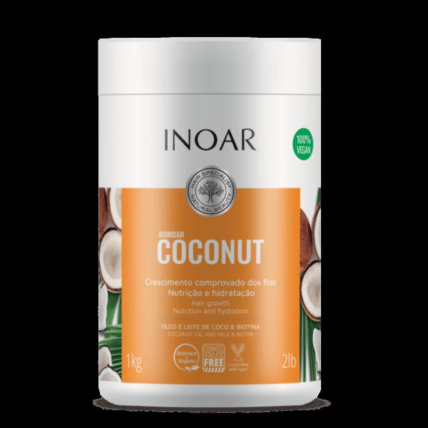 смотреть фото Бессульфатная маска Кокос Inoar, Bombar coconut