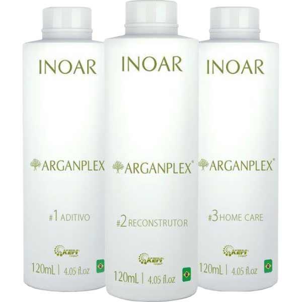 Набор для защиты окрашенных волос Иноар Арганплекс, 3х100 мл