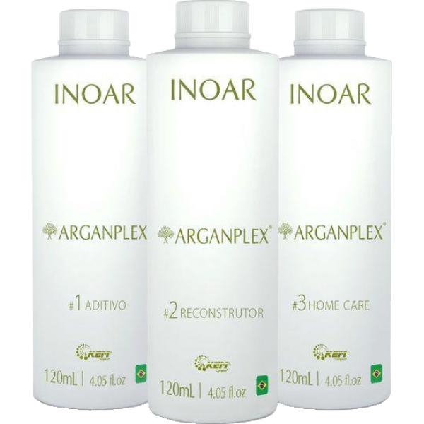 Набор для защиты окрашенных волос Иноар Арганплекс, 3х120 мл