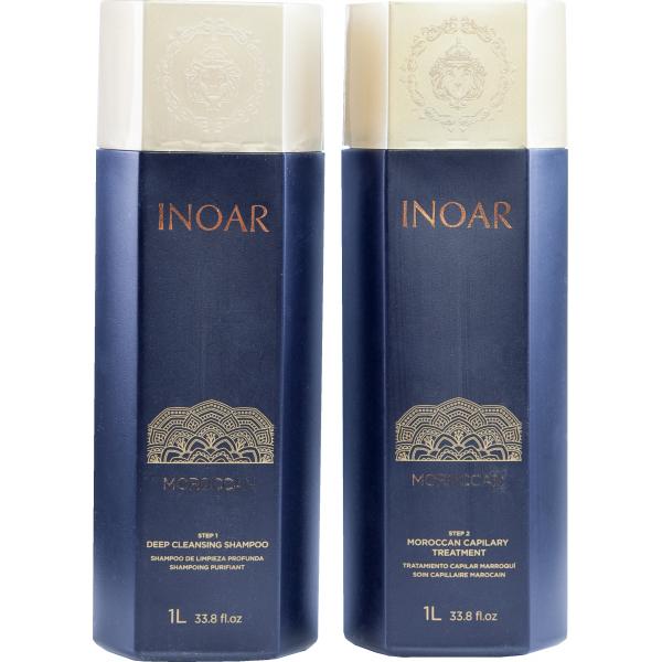 Кератиновое выпрямление для слабых волос Иноар Марокко 2x1000 мл
